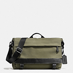 COACH F71738 Sullivan Messenger In Nylon BLACK ANTIQUE NICKEL/SURPLUS