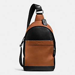 COACH F71751 Campus Pack In Smooth Leather BLACK/SADDLE