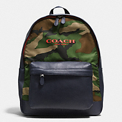 COACH F71755 Campus Backpack In Printed Nylon  CLASSIC CAMO