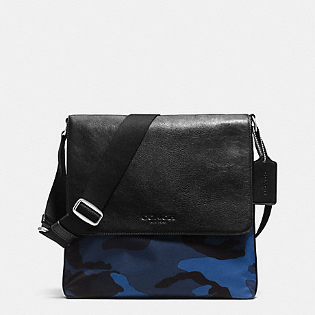 COACH f71756 MAP BAG IN PRINTED NYLON BLUE CAMO