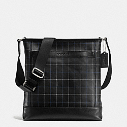 COACH F71757 Tech Crossbody In Leather  BLACK TATTERSALL