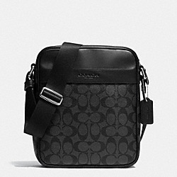 COACH F71764 - FLIGHT BAG IN SIGNATURE CHARCOAL/BLACK