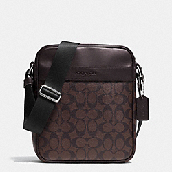 COACH F71764 - FLIGHT BAG IN SIGNATURE MAHOGANY/BROWN