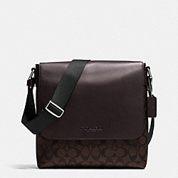 COACH F71765 - SULLIVAN SMALL MESSENGER IN SIGNATURE MAHOGANY/BROWN