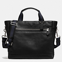 COACH F71792 Utility Tote In Smooth Leather BLACK