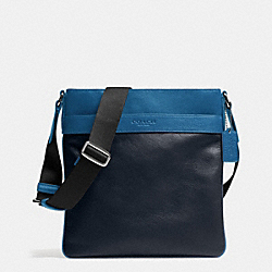 COACH F71842 Bowery Crossbody In Leather MIDNIGHT/DENIM