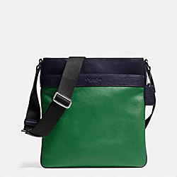 COACH F71842 Bowery Crossbody In Leather GRASS/MIDNIGHT