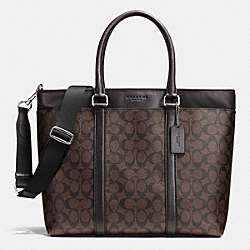 COACH F71876 Business Tote In Signature MAHOGANY/BROWN