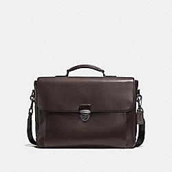 METROPOLITAN BRIEFCASE - F71899 - CHESTNUT/BLACK ANTIQUE NICKEL