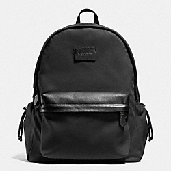 COACH F71936 Campus Backpack In Nylon ANTIQUE NICKEL/BLACK