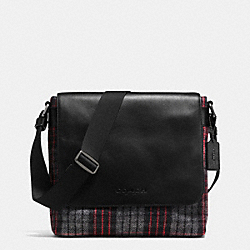 SULLIVAN SMALL MESSENGER IN PRINTED WOOL - f71947 - EBW