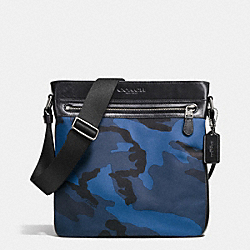 COACH F71949 Tech Crossbody In Nylon BLUE CAMO