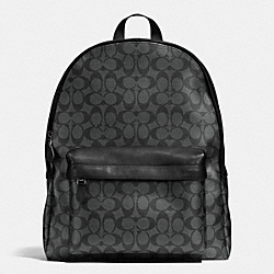 COACH F71973 Campus Backpack In Signature CHARCOAL/BLACK