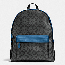 COACH F71973 Campus Backpack In Signature CHARCOAL/DENIM