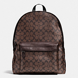 COACH F71973 Campus Backpack In Signature MAHOGANY/BROWN