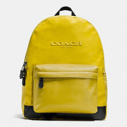 COACH F71975 Campus Backpack In Nylon CHARTRUESE
