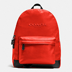 COACH F71975 Campus Backpack In Nylon CARMINE