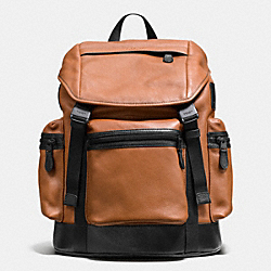 COACH F71976 Trek Pack In Smooth Leather SADDLE/BLACK