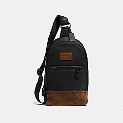 COACH F71986 Rip And Repair Campus Pack BLACK/BLACK