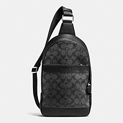 COACH F72043 Campus Pack In Signature CHARCOAL/BLACK