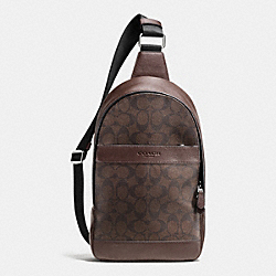COACH F72043 Campus Pack In Signature MAHOGANY/BROWN