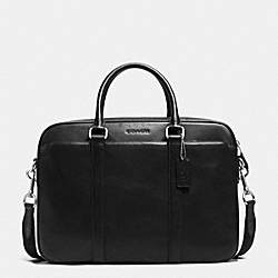 COACH F72047 Slim Brief In Calf Leather BLACK