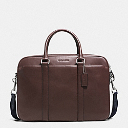 SLIM BRIEF IN CALF LEATHER - f72047 - MAHOGANY