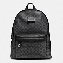COACH F72051 - CAMPUS BACKPACK IN SIGNATURE BLACK ANTIQUE NICKEL/CHARCOAL/BLACK