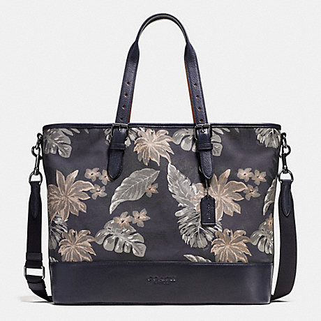 COACH f72074 MERCER TOTE IN PRINTED CANVAS HAWAIIAN PALM