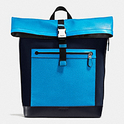 COACH F72077 Getaway Pack In Perforated Leather AZURE