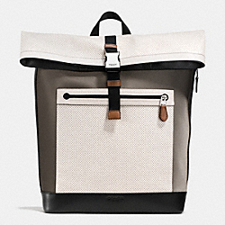 COACH F72077 Getaway Pack In Perforated Leather CHALK
