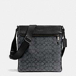 COACH F72103 Bowery Crossbody In Signature BLACK ANTIQUE NICKEL/CHARCOAL