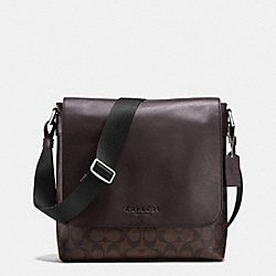 COACH F72109 - SULLIVAN SMALL MESSENGER IN SIGNATURE MAHOGANY/BROWN