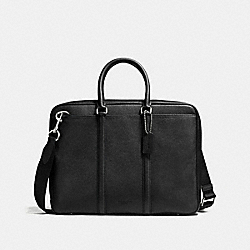 COACH F72113 Metropolitan Slim Brief BLACK/SILVER