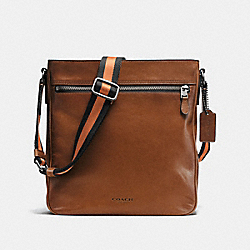 METROPOLITAN CROSSBODY IN SPORT CALF LEATHER - f72121 - DARK SADDLE
