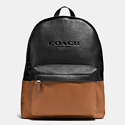 COACH F72159 Campus Pack In Colorblock Leather SADDLE/BLACK