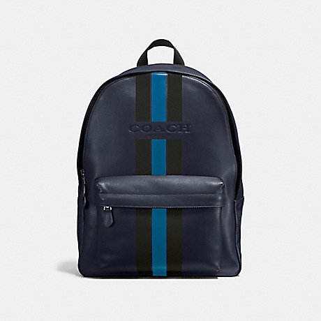 2556bc3d1a26 COACH F72237 - CHARLES BACKPACK IN VARSITY LEATHER - MIDNIGHT DENIM ...