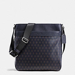 COACH F72291 Bowery Crossbody In Printed Leather DIAMOND FOULARD