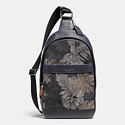 COACH F72307 Campus Pack In Printed Canvas HAWAIIAN PALM