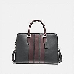 COACH F72308 Bond Brief NICKEL/BLACK/OXBLOOD