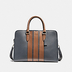 COACH F72308 Bond Brief NICKEL/MIDNIGHT NAVY/SADDLE