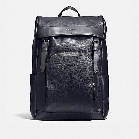 COACH F72311 HENRY BACKPACK IN PEBBLE LEATHER MIDNIGHT