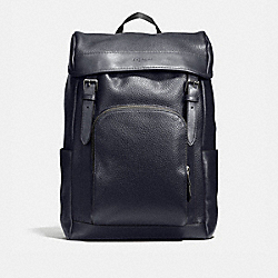 HENRY BACKPACK IN PEBBLE LEATHER - f72311 - MIDNIGHT
