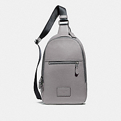 COACH F72321 - CAMPUS PACK HEATHER GREY/BLACK ANTIQUE NICKEL