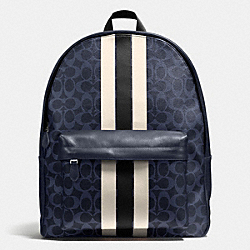 COACH F72340 - CHARLES BACKPACK IN VARSITY SIGNATURE MIDNIGHT/CHALK