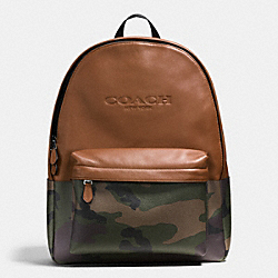 CHARLES BACKPACK IN PRINTED COATED CANVAS - f72344 - GREEN CAMO