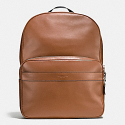 HAMILTON BACKPACK IN SPORT CALF LEATHER - f72364 - DARK SADDLE