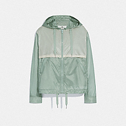 COACH F72437 Colorblock Windbreaker SEAFOAM CREAM