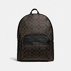 COACH F72483 - HOUSTON BACKPACK IN SIGNATURE CANVAS MAHOGANY/BLACK/BLACK ANTIQUE NICKEL