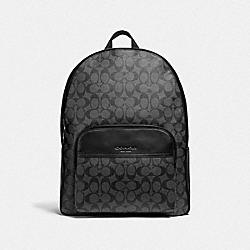 COACH F72483 - HOUSTON BACKPACK IN SIGNATURE CANVAS CHARCOAL/BLACK/BLACK ANTIQUE NICKEL
